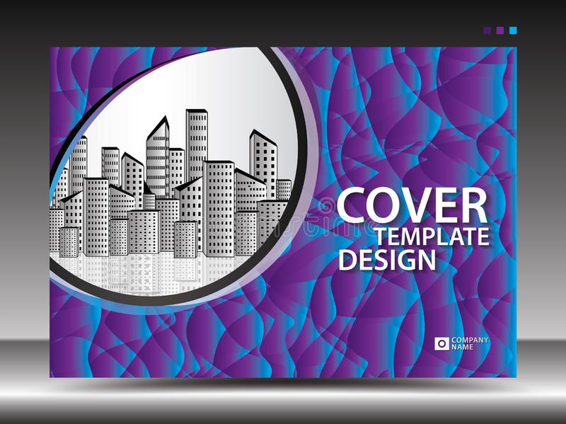 Plantilla de la cubierta púrpura para hacer publicidad, industria, Real Estate, hogar, cartelera, presentación, aviador del folle ilustración del vector