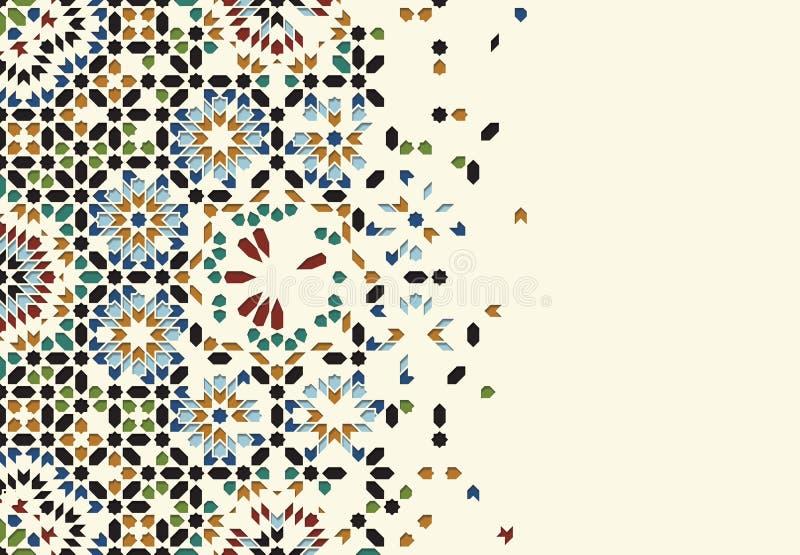 Plantilla de la desintegración de Marruecos ilustración del vector
