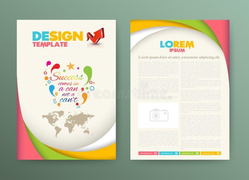 Plantilla de la disposición de diseño del aviador del folleto con éxito ilustración del vector