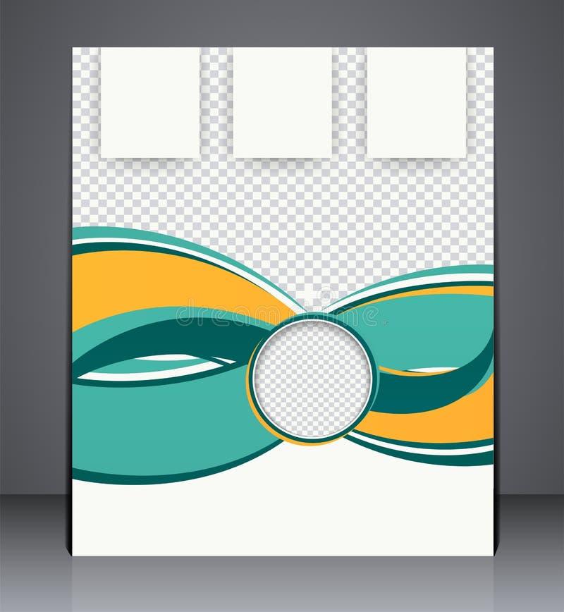 Plantilla de la disposición de diseño del aviador del folleto del negocio del vector libre illustration