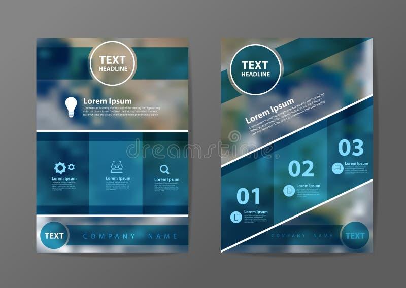 Plantilla de la disposición de diseño del aviador del folleto del negocio del vector ilustración del vector