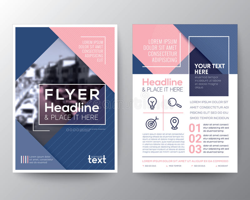Plantilla de la disposición de diseño del aviador del folleto del vector stock de ilustración