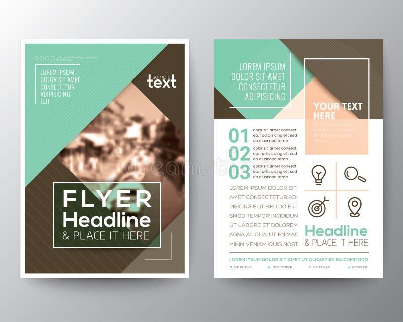 Plantilla de la disposición de diseño del aviador del folleto del vector libre illustration