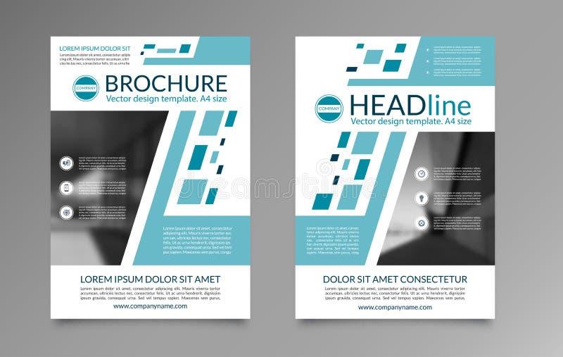 Plantilla de la disposición del folleto del negocio Página del frente y de la parte posterior de tamaño A4 Puede ser utilizado pa libre illustration