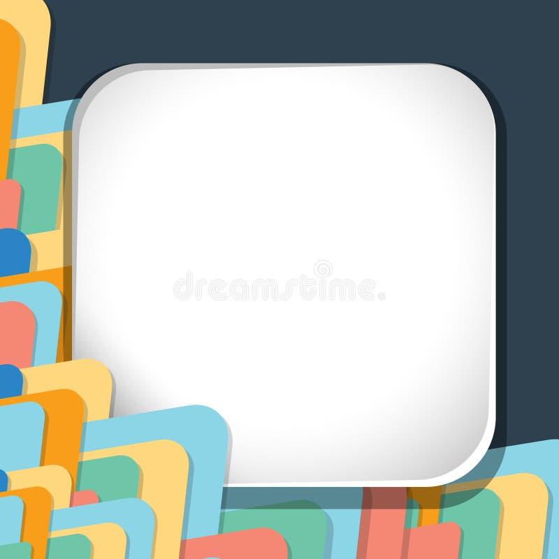 Plantilla de la frontera con formas coloridas en fondo libre illustration