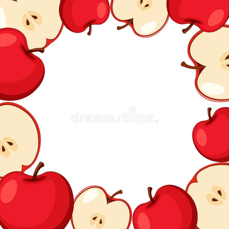 Plantilla de la frontera con las manzanas rojas libre illustration
