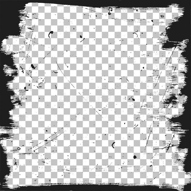 Plantilla de la frontera del Grunge foto de archivo