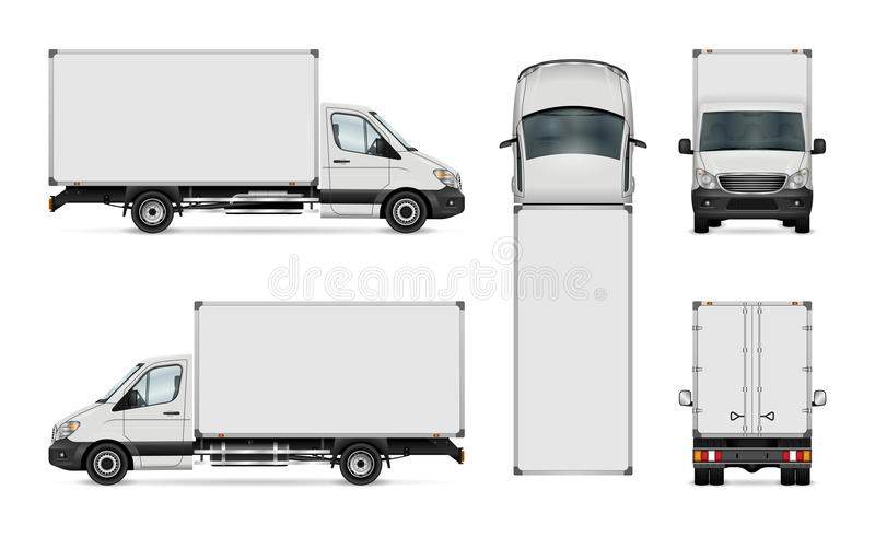 Plantilla de la furgoneta de entrega ilustración del vector