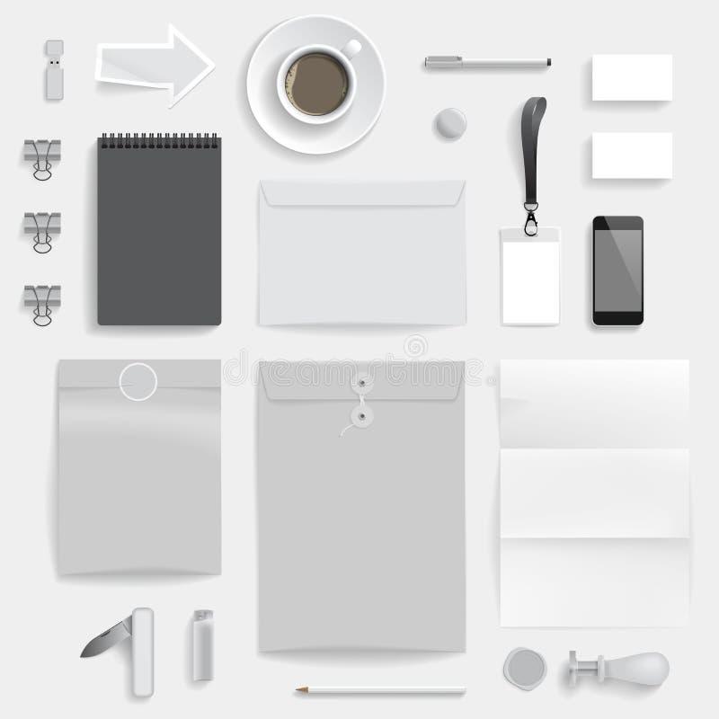 Plantilla de la identidad corporativa ilustración del vector