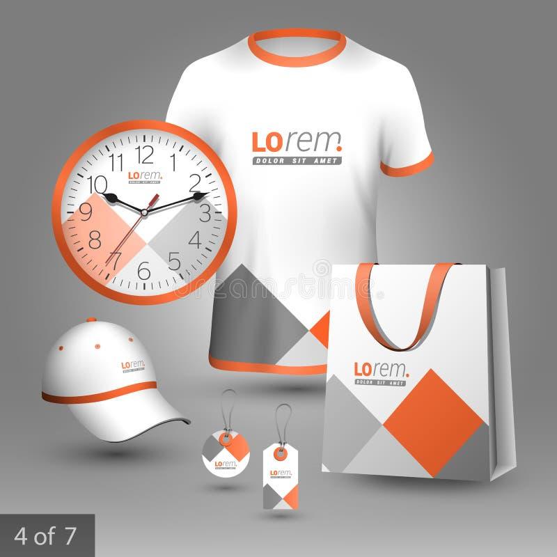 Plantilla de la identidad corporativa y regalos promocionales ilustración del vector