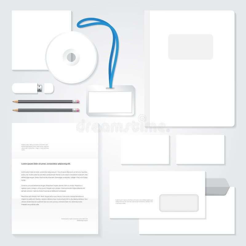 Plantilla de la identidad del vector Diseño en blanco inmóvil libre illustration