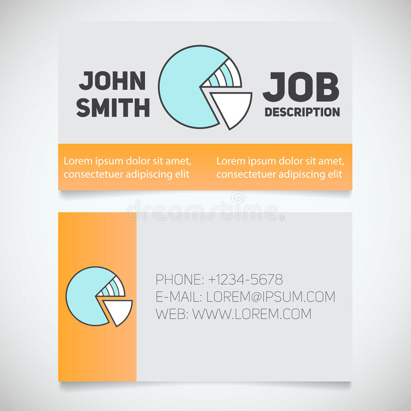 Plantilla de la impresión de la tarjeta de visita con el logotipo del diagrama stock de ilustración
