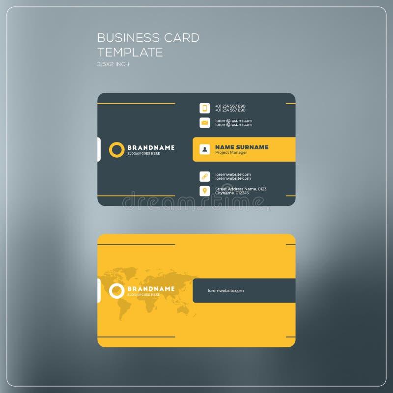 Plantilla de la impresión de la tarjeta de visita corporativa Tarjeta de visita personal w ilustración del vector