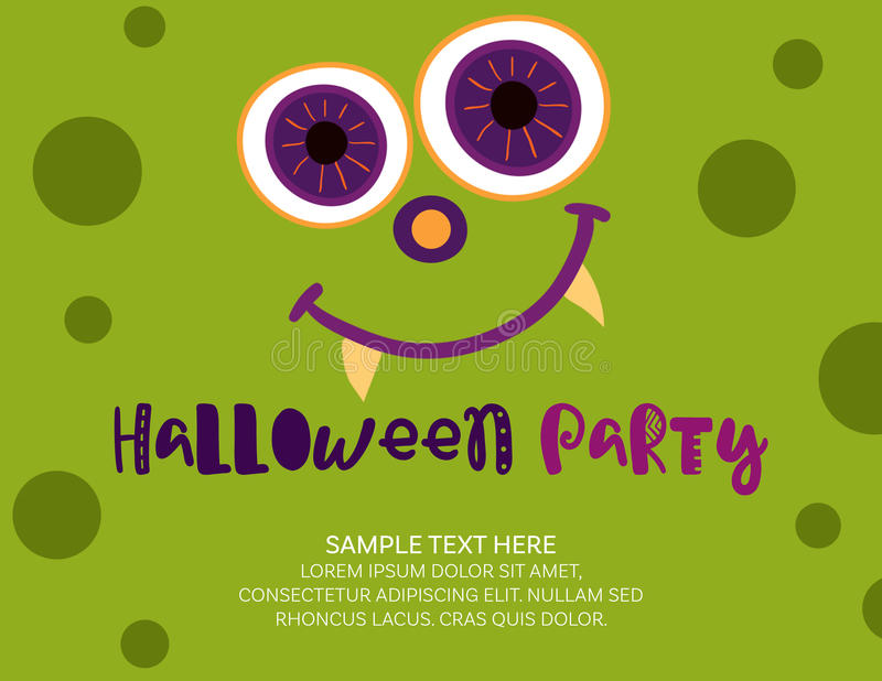Plantilla de la invitación de Halloween ilustración del vector