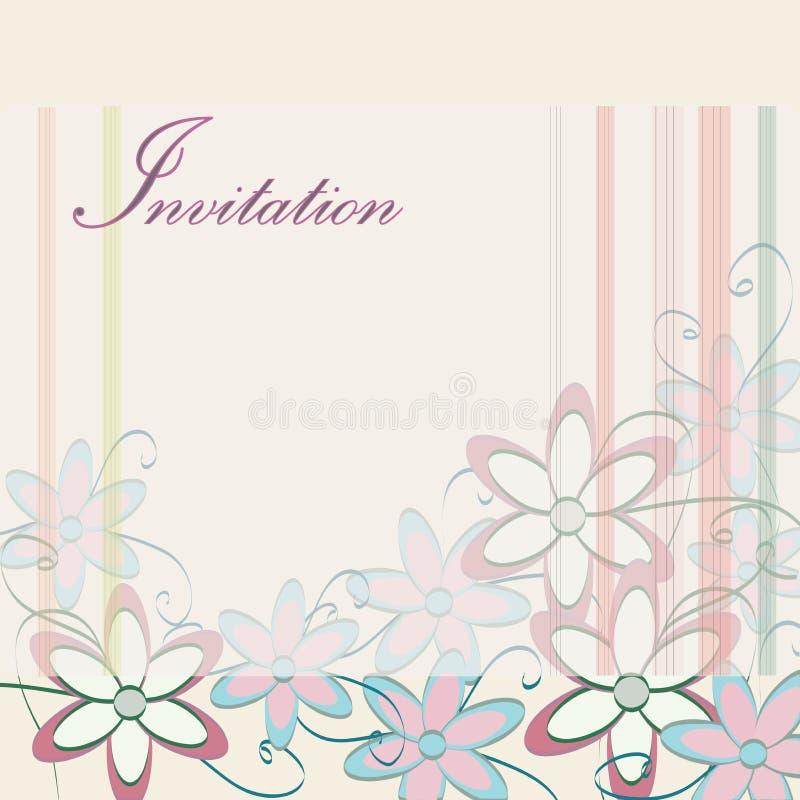 plantilla de la invitacin de la boda diseo de tarjeta del partido con las flores