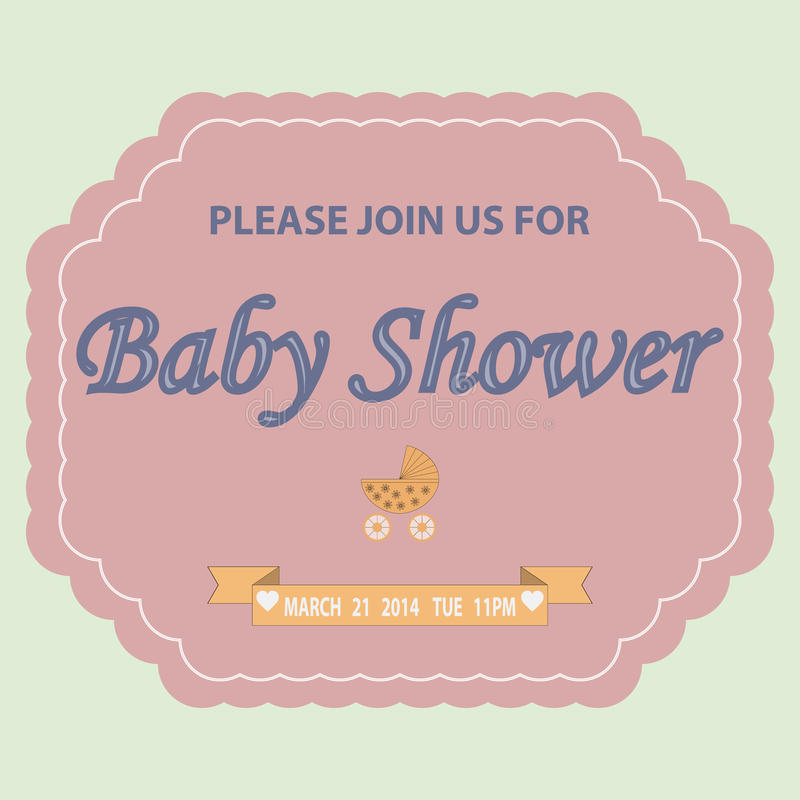 Plantilla de la invitación de la fiesta de bienvenida al bebé libre illustration