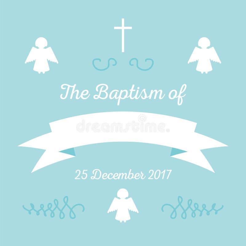 Plantilla de la invitación del bautismo ilustración del vector