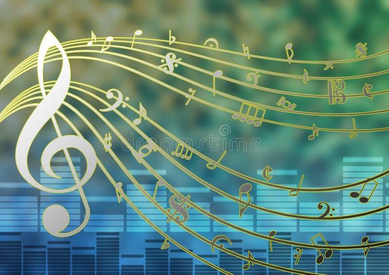 Plantilla de la música ilustración del vector