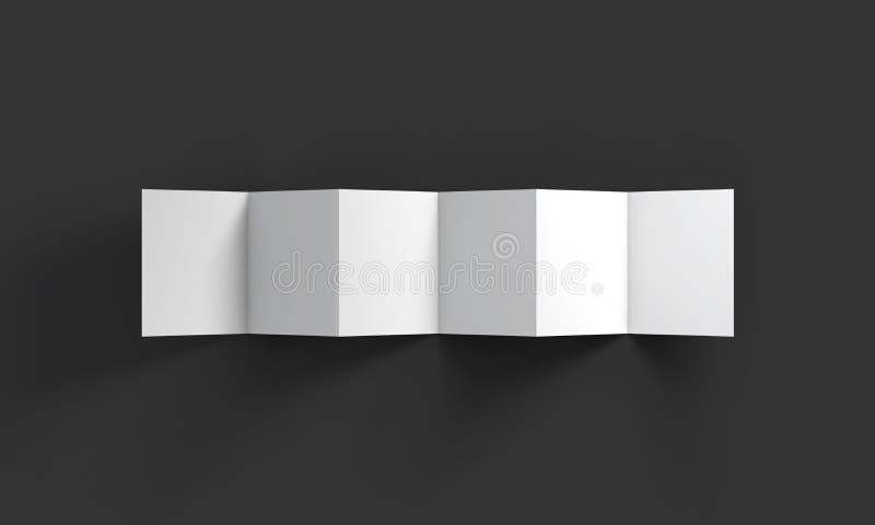 Plantilla de la maqueta del folleto de la página del blanco 6 del zigzag ilustración del vector