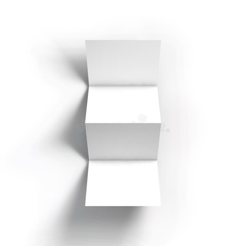 Plantilla de la maqueta del folleto del zigzag cuatro libre illustration