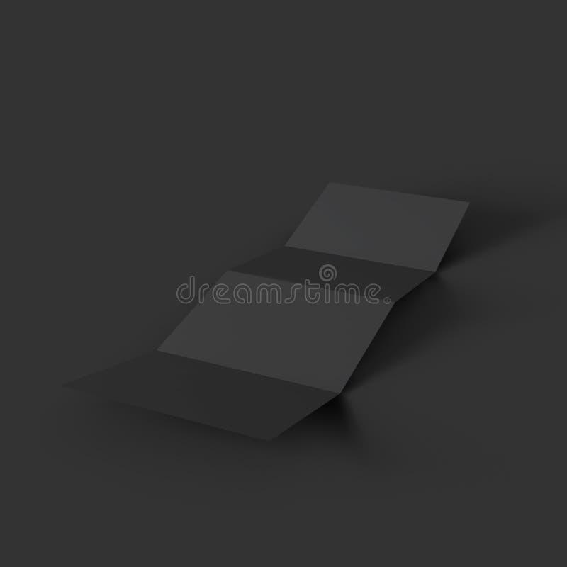 Plantilla de la maqueta del folleto del zigzag cuatro stock de ilustración