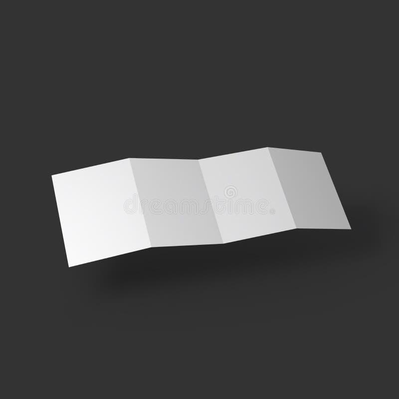 Plantilla de la maqueta del folleto del zigzag cuatro ilustración del vector