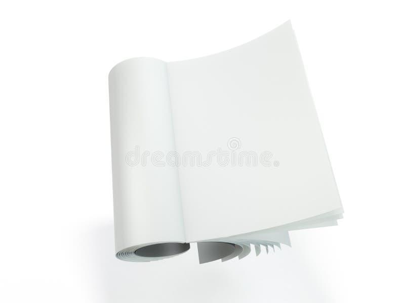 Plantilla de la maqueta de la revista, del folleto o del folleto 3d stock de ilustración