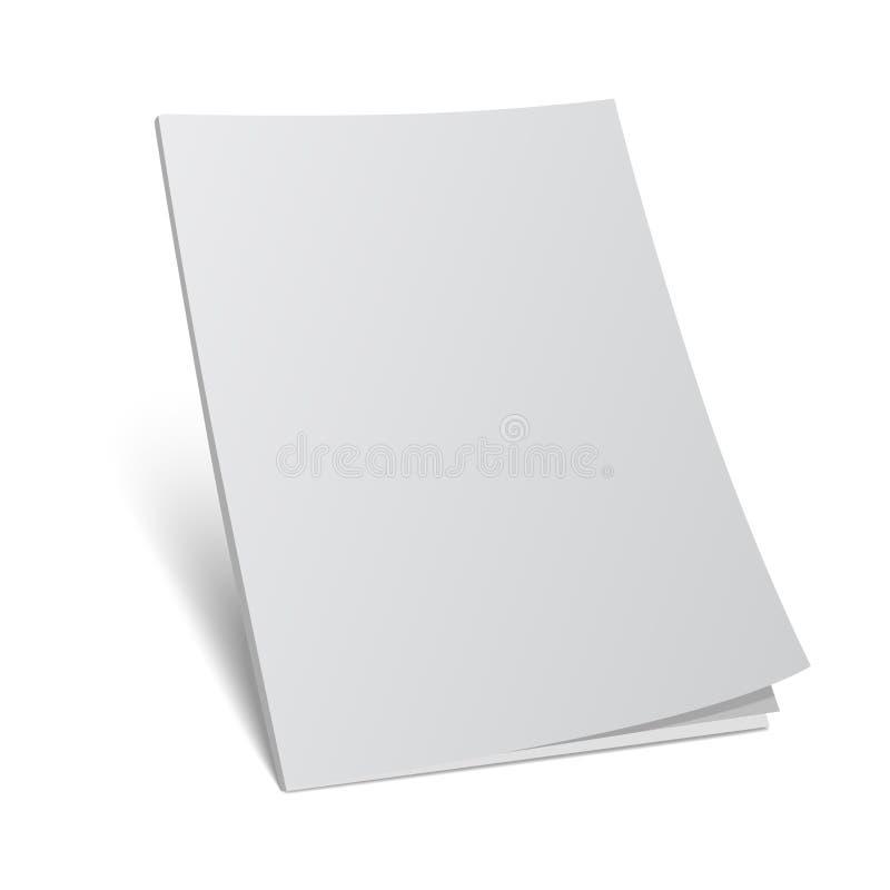 Plantilla de la mofa de la revista de la cubierta en blanco 3d ilustración del vector