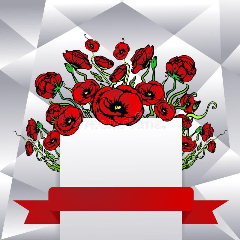 Plantilla de la p?gina para la web e impresi?n con el fondo cortado gris blanco en rojo y negro con ilustración del vector