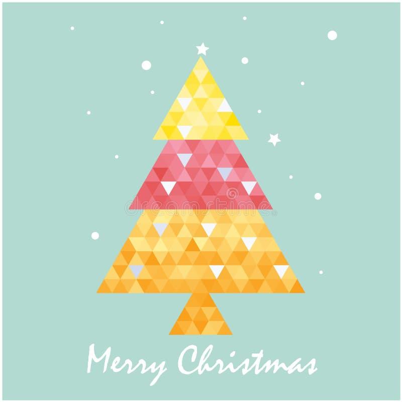 Plantilla De La Postal De La Navidad Con El árbol De Navidad ...