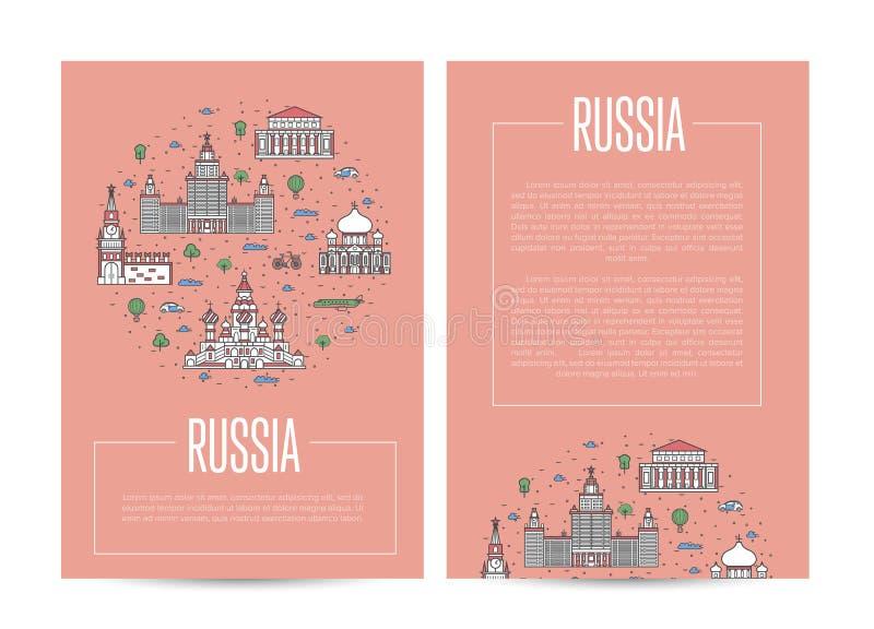 Plantilla de la publicidad del país de Rusia que viaja stock de ilustración