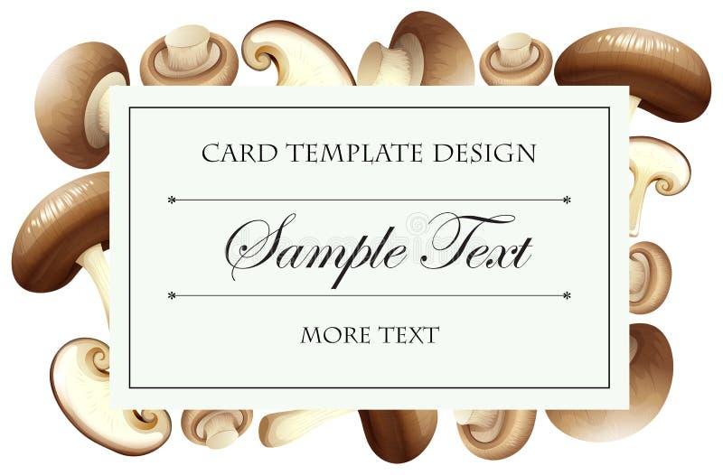 Plantilla de la tarjeta con las setas frescas ilustración del vector