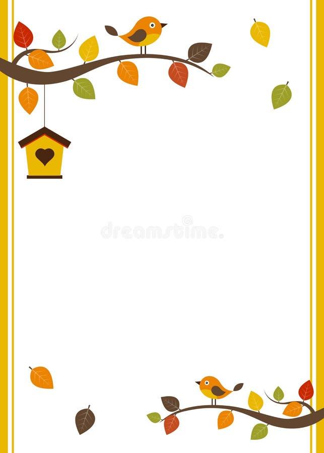 Plantilla de la tarjeta de la caída stock de ilustración