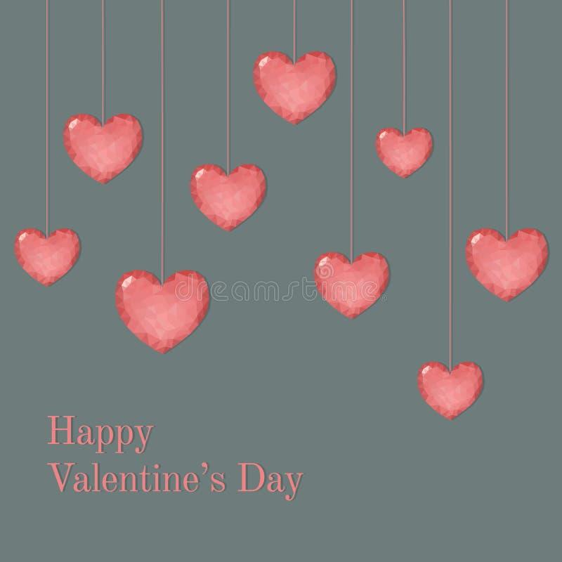 Plantilla de la tarjeta de la tarjeta del día de San Valentín con deseo libre illustration
