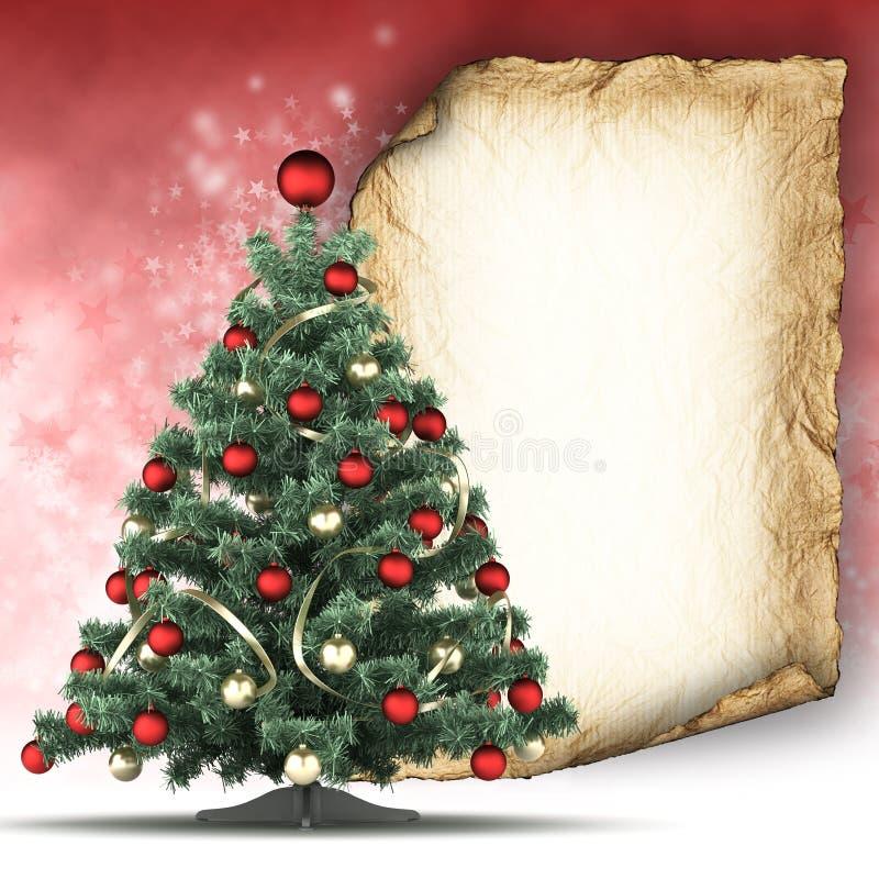 Plantilla de la tarjeta de Navidad ilustración del vector