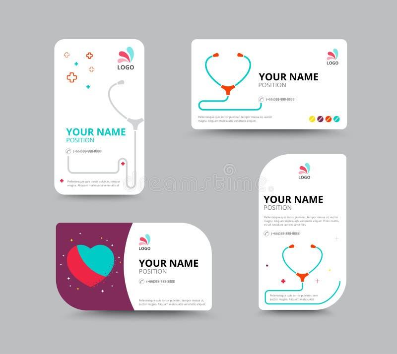 Plantilla de la tarjeta de visita, diseño de la disposición de la tarjeta de visita, illu del vector libre illustration