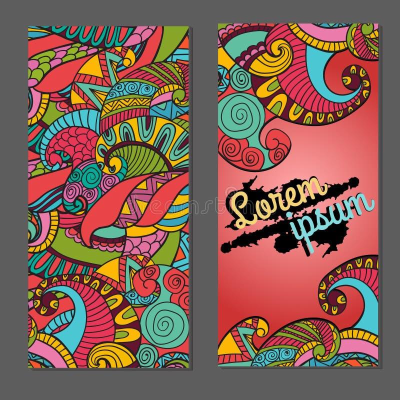 Plantilla de la tarjeta de visita para el diseñador gráfico o la agencia creativa, ejemplo del vector stock de ilustración