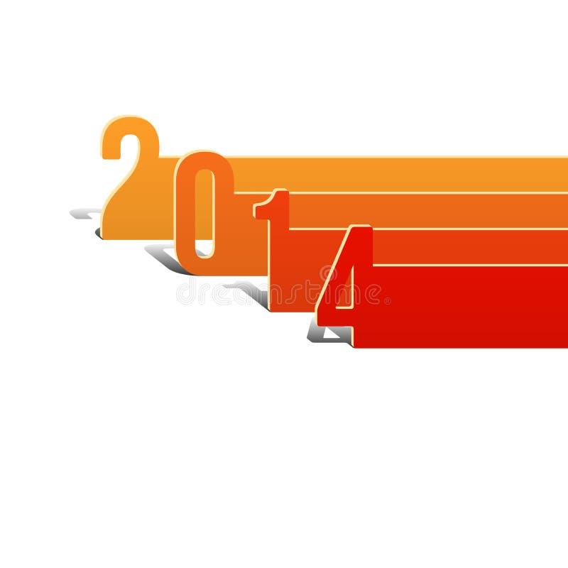 Plantilla de la tarjeta del Año Nuevo 2014 libre illustration