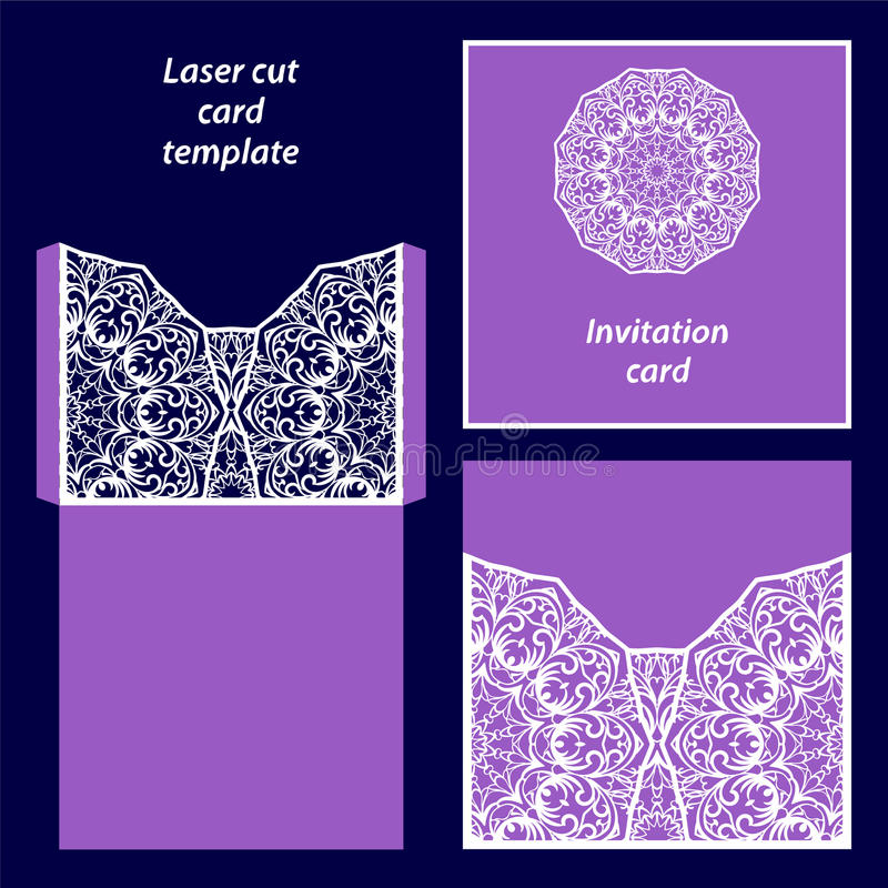 Plantilla de la tarjeta del corte del laser libre illustration