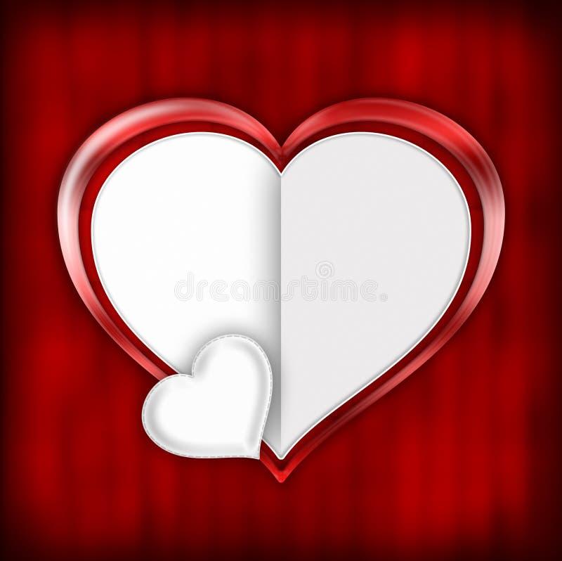 Plantilla de la tarjeta del día de tarjetas del día de San Valentín libre illustration