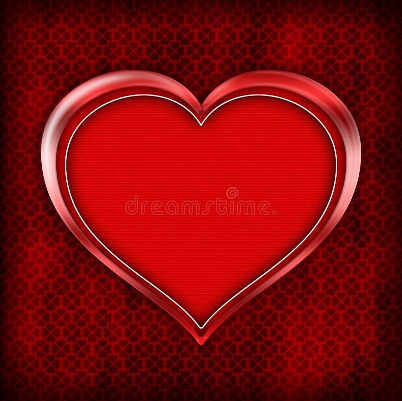 Plantilla de la tarjeta del día de tarjetas del día de San Valentín stock de ilustración