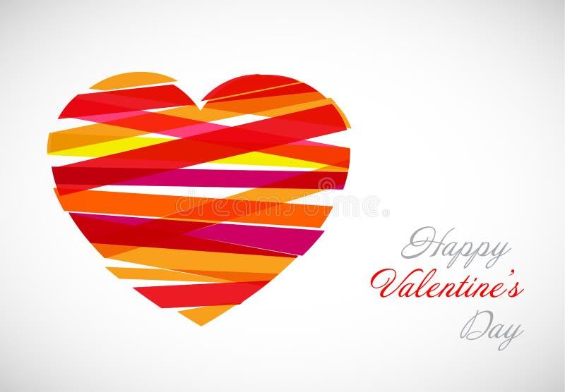 Plantilla de la tarjeta de la tarjeta del día de San Valentín del vector libre illustration