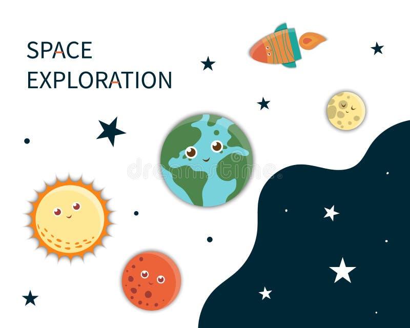Plantilla de la tarjeta del espacio de vector ilustración del vector