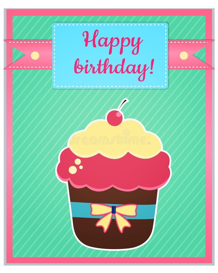 Plantilla de la tarjeta del feliz cumpleaños imágenes de archivo libres de regalías