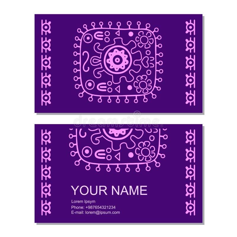 Plantilla de la tarjeta del vector del negocio con Geometrics antiguo libre illustration