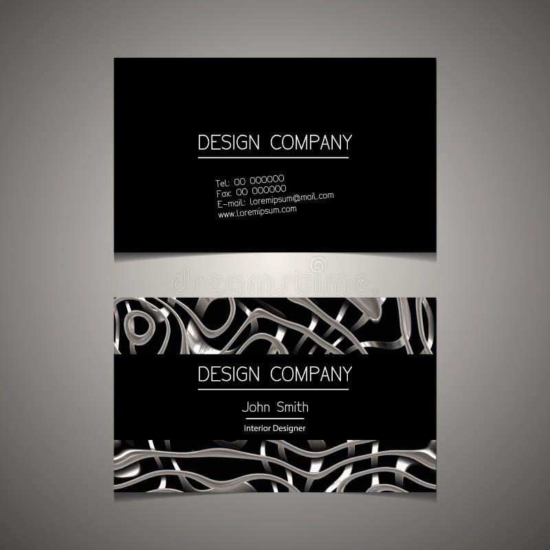 Plantilla de la tarjeta de visita con un diseño elegante ilustración del vector