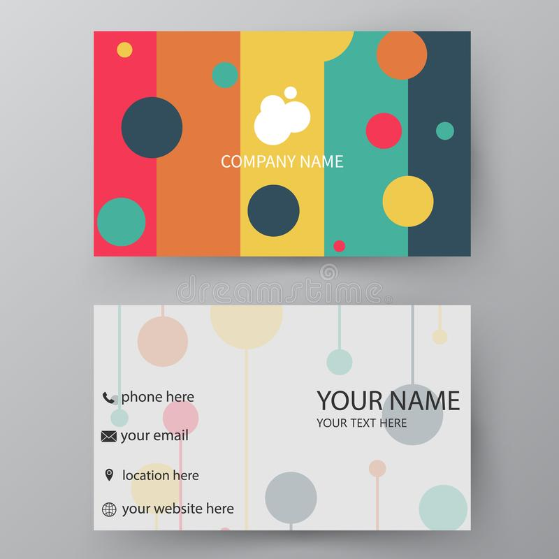 Plantilla de la tarjeta de visita del vector E stock de ilustración