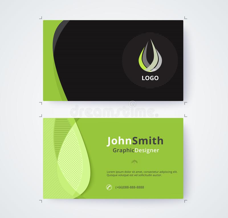 Plantilla de la tarjeta de visita para el diseño comercial en el fondo blanco ilustración del vector