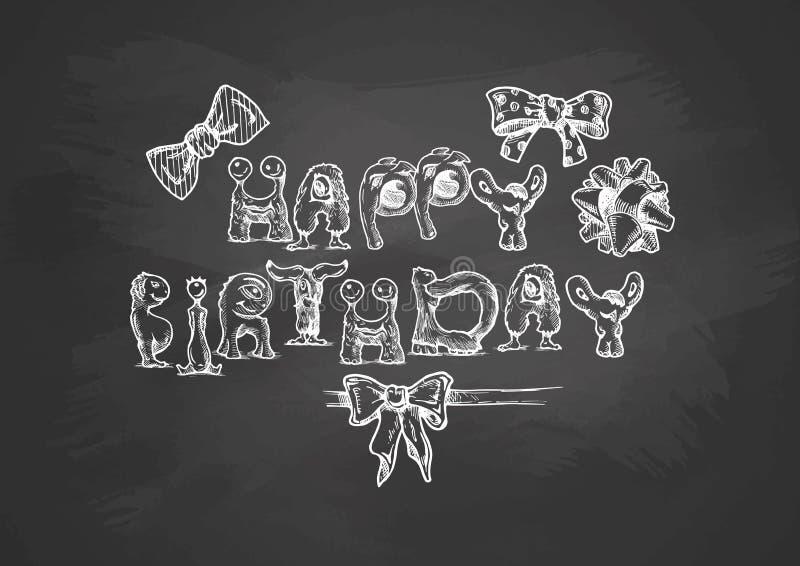 Plantilla de la tipografía del cumpleaños libre illustration