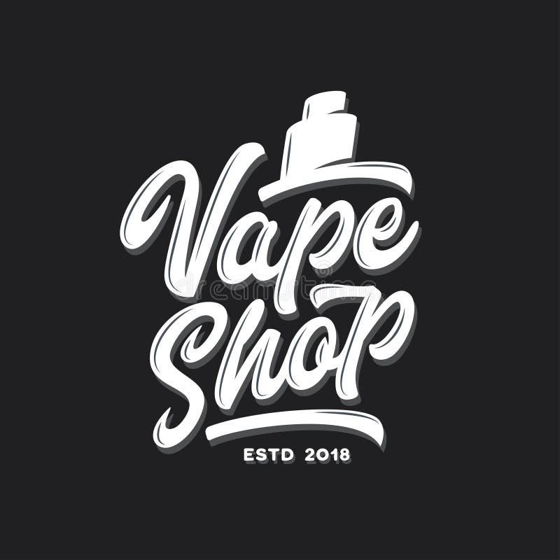 Plantilla de la tipografía de la tienda de Vape Ejemplo de las letras del vintage del vector libre illustration